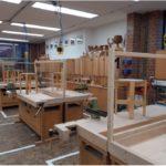 Werkstattunterricht der Holzklassen unter Corona Bedingungen