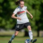 Sandra Walbeck auf Länderspiel-Reise mit der DFB-Nationalmannschaft